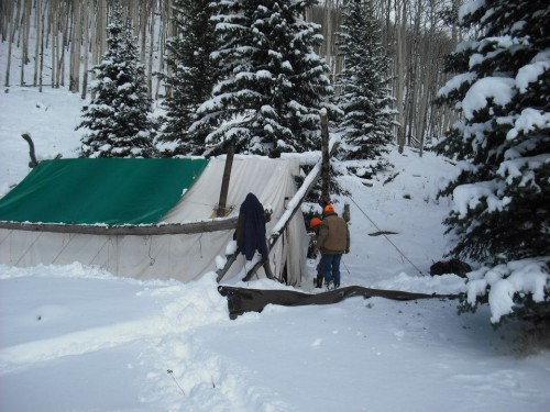 Flat Tops Hunting Snow Outfitter Camp